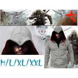 Sudadera Assasin's Creed Gris Claro