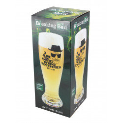 Breaking Bad Vaso para cerveza de trigo I Am The One Who Knocks 29 cm