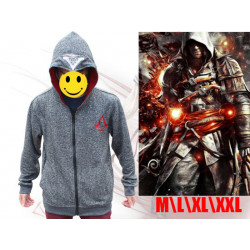 Sudadera Assasin's Creed Gris Oscuro