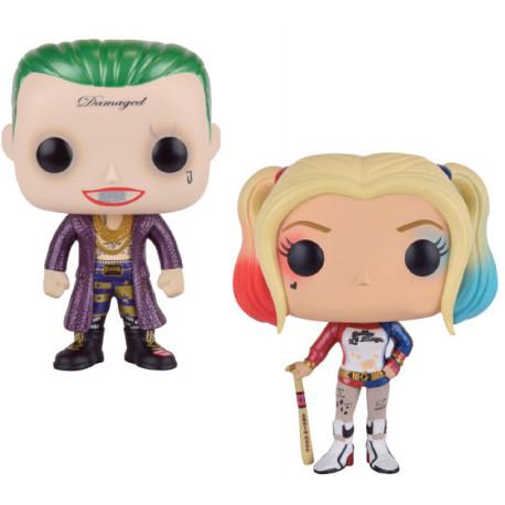 Escuadrón Suicida Pack de 2 POP! Vinyl Figuras Metallic Joker & Harley Quinn 9 cm