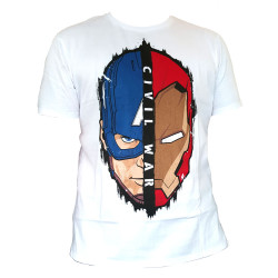 Captain America Civil War Camiseta Stark Cap Head