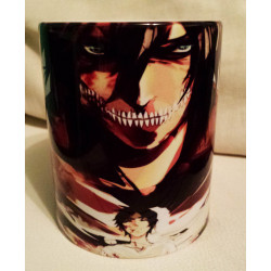 Taza Attack on Titan Eren (Shingeki no Kyojin)