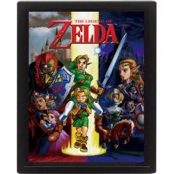 Legend of Zelda Framed 3D Effect Poster Ocarina Of Time 26 x 20 cm