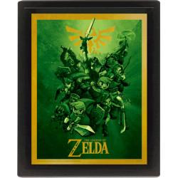 Legend of Zelda Framed 3D Effect Poster Link 26 x 20 cm