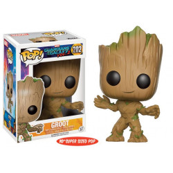 Guardianes de la Galaxia Vol. 2 POP! Marvel Vinyl Super Sized Figur Young Groot 25 cm