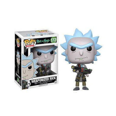 RICK Y MORTY POP! ANIMATION VINYL FIGURA WEAPONIZED RICK 9 CM