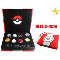 Caja medallas Jotho Pokemon