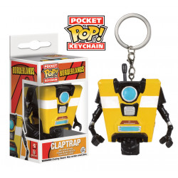 Borderlands Llavero Pocket POP! Vinyl Claptrap 4 cm