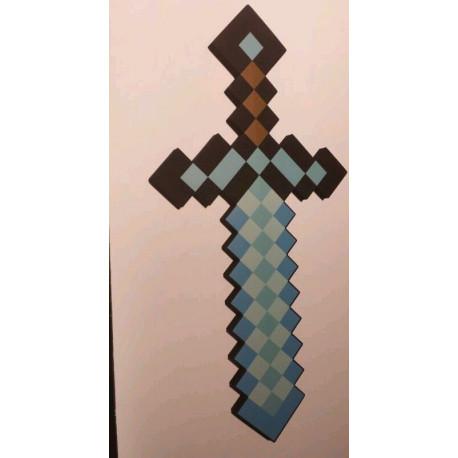 Espada De Diamante Minecraft Tamano Real